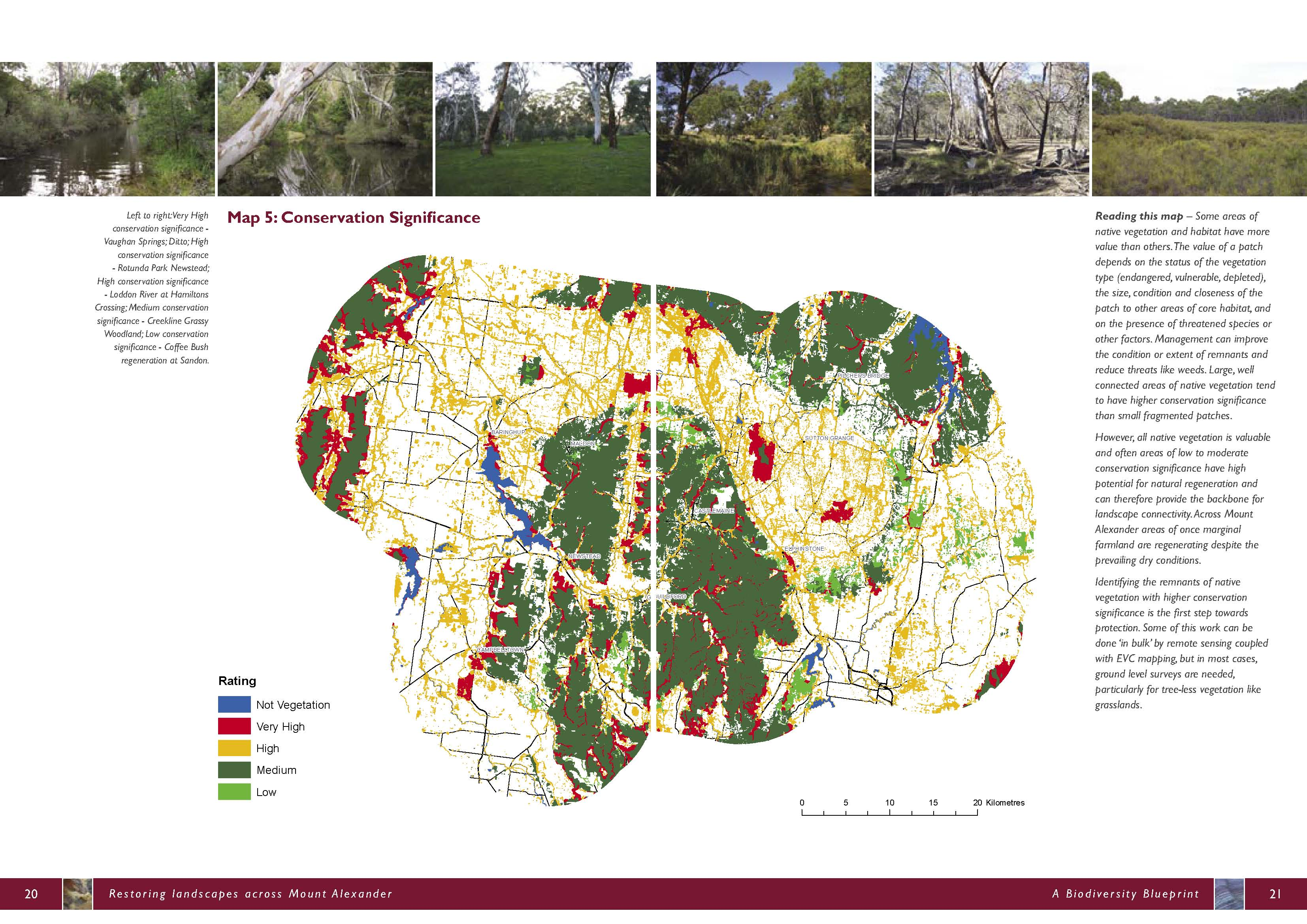 Biodiversity blueprint and strategic plan connecting country map 5 conservation significance malvernweather Choice Image