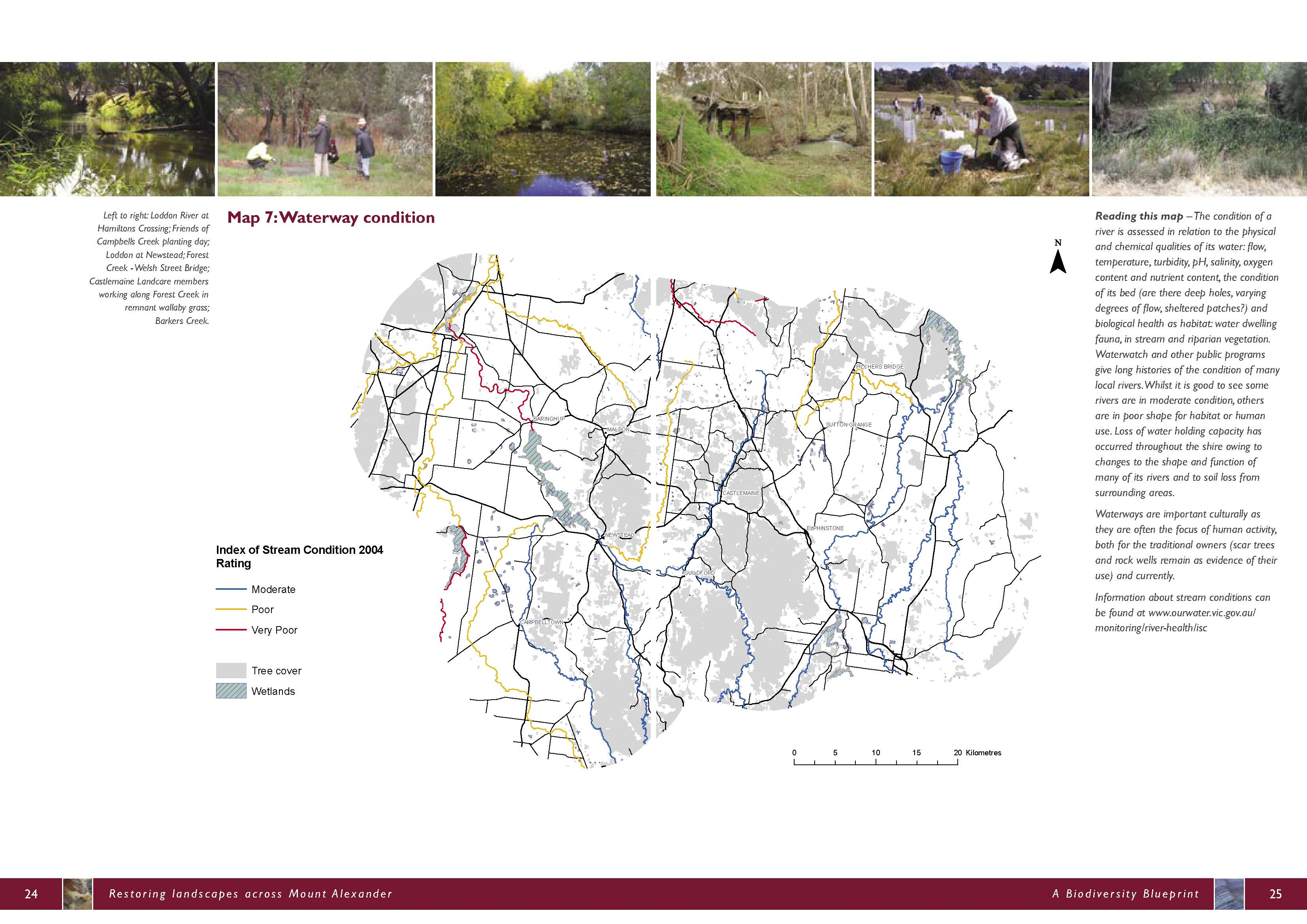 Biodiversity blueprint and strategic plan connecting country map 7 waterway condition malvernweather Choice Image